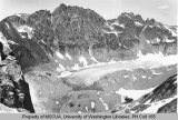 South Cascade Glacier and South Cascade Lake viewed from Le Conte Mountain, ca. 1938