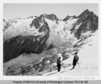 Two mountaineers viewing El Dorado Peak, n.d.
