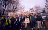 March featuring the International Brotherhood of Teamsters contingent