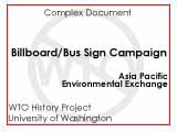 Seattle WTO billboard / bus signs campaign