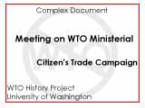 CTC working group meeting on the WTO ministerial : February 12, 1999, 12:00-2:00 p.m.