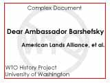 Dear Ambassador Barshefsky : we oppose the administration's current position at the World Trade...