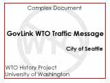 GovLink WTO traffic message for 3:09 PM December 3
