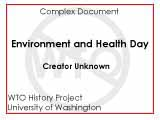 Environment and health day : November 29, 1999 : schedule of events