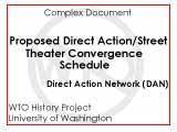 Proposed Direct Action / Street Theater Convergence schedule