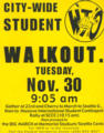 City-wide student walkout : Tuesday, Nov. 30 9:05 am