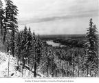 Lake Kapowsin as seen from top of penstock site, March 11, 1903
