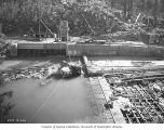 Gorge Dam and intake under construction, October 4, 1924