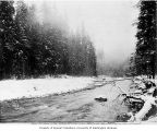 Electron Diversion Dam site, looking north on Puyallup River, March 14, 1903