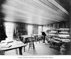 Worker in drafting room at the reservoir camp, April 25, 1903