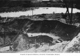 Workers excavating site of Gorge Dam Powerhouse, June 6, 1922