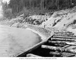 Workers at construction site of Seattle City Light railway line from Newhalem to future site of...