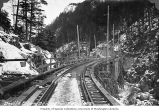 Railroad trestle bridge over Skagit River at Devil's Elbow, February 1922