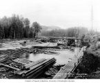Dam construction at headworks, October 6, 1910