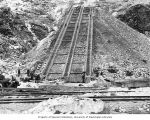 Incline railway under construction, Reflector Bar, January 1928