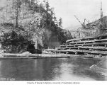 Diversion dam and tunnel under construction, Diablo Dam, April 12, 1928
