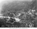 Bird's-eye view of the junction of Ruby Creek with Skagit River, near proposed site of Ruby Dam...