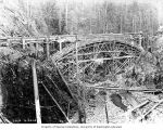 Bridge under construction over Cedar River at Masonry Dam, September 23, 1914