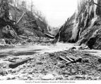 Icy area south of dam site, December 21, 1924