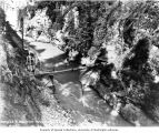 Bridge at entrance to diversion tunnel, just south of dam site, June 30, 1924