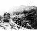 Incline railroad used for moving gravel, east of the dam site, October 7, 1924