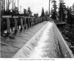 Electron Plant reservoir spillway, April 18, 1904
