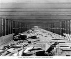 Flume under construction, inside view, May 6, 1911