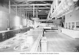 Kitchen in dining hall for construction workers at Masonry Dam, May 17, 1913