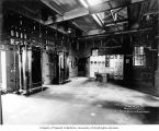 Massachusetts Street Substation interior showing switchboard and compensators, Seattle, May 14,...