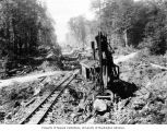 Steam shovel used in construction of the railroad between Rockport and Newhalem, August 11, 1920