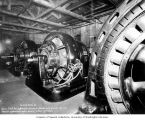 Tacoma substation interior showing motor generators, October 21, 1904