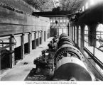 Electron Plant powerhouse interior showing generators, October 20, 1904