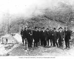 Group of men, probably supervisors of construction work at Masonry Dam, April 18, 1914