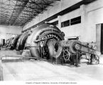 Interior of powerhouse with fourth generating unit installed, February 26, 1925