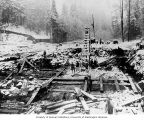 Electron Diversion Dam excavation at the Puyallup River, November 15, 1903