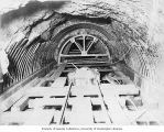 Interior of tunnel, Masonry Dam, October 18, 1914