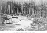 Seattle City Light's first timber crib dam on the Cedar River, located approximately one-half mile...