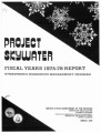 Project Skywater:  Fiscal Years 1975-78 Report