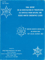Final report on an investigation of precipitating ice crystals from natural and seeded winter...