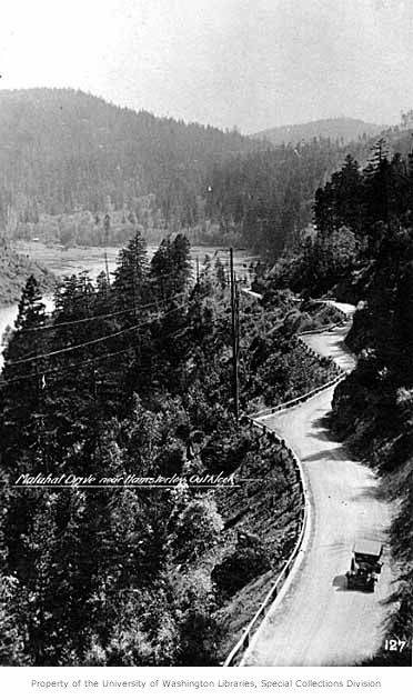 Malahat Drive near Hamsterley Outlook on Vancouver Island