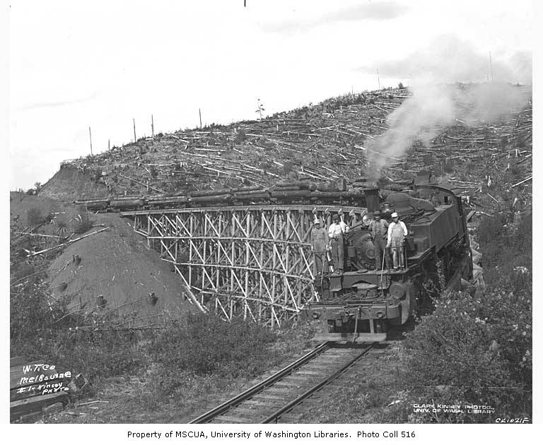Crew with Weyerhaeuser Timber Company's Baldwin Mallet locomotive no