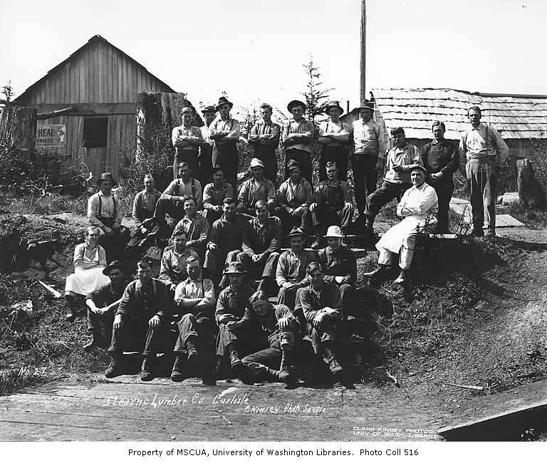 Loggeress Hall Crew At Logging Camp Stearns Company Near Carlisle Ca 1929
