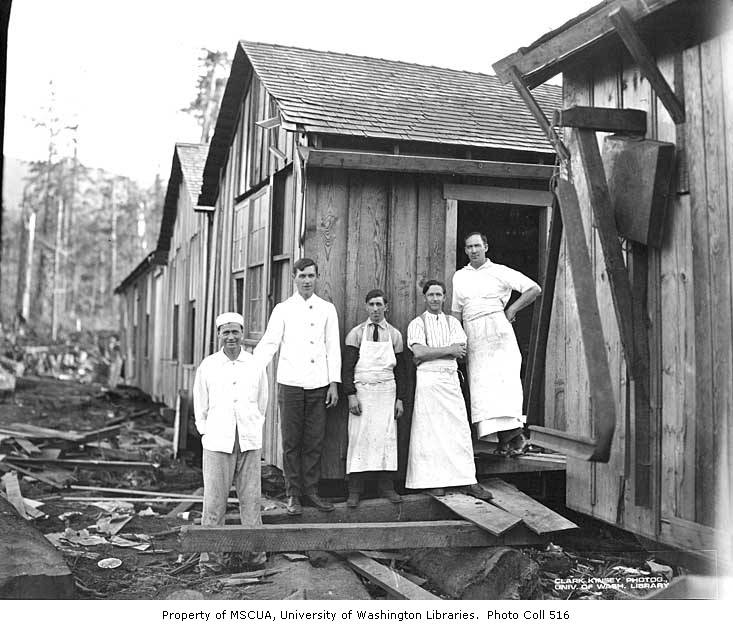 Mess Hall Crew At Camp Puget Sound Mill And Timber Company Twin Ca 1921