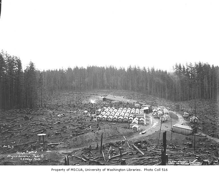 Railroad logging camps 4 and 3, Weyerhaeuser Timber Company, n d