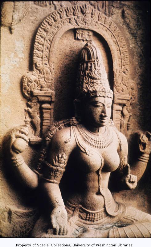 Saraswati from left of north entrance to Gangaikondacholapuram