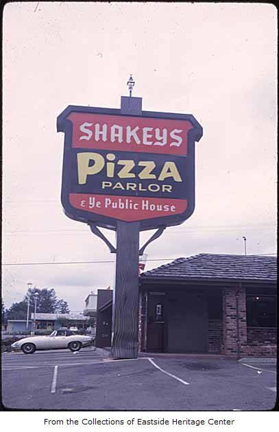 Shakey's Pizza, Bellevue, 1969 - Eastside Heritage Center