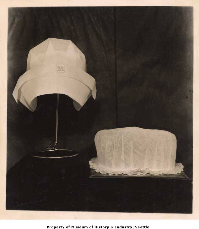 Nursing caps used at Minor Private Hospital before and