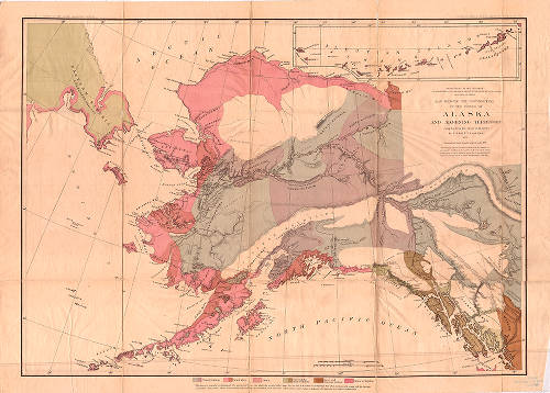 Map showing the distribution of the tribes of Alaska and ...
