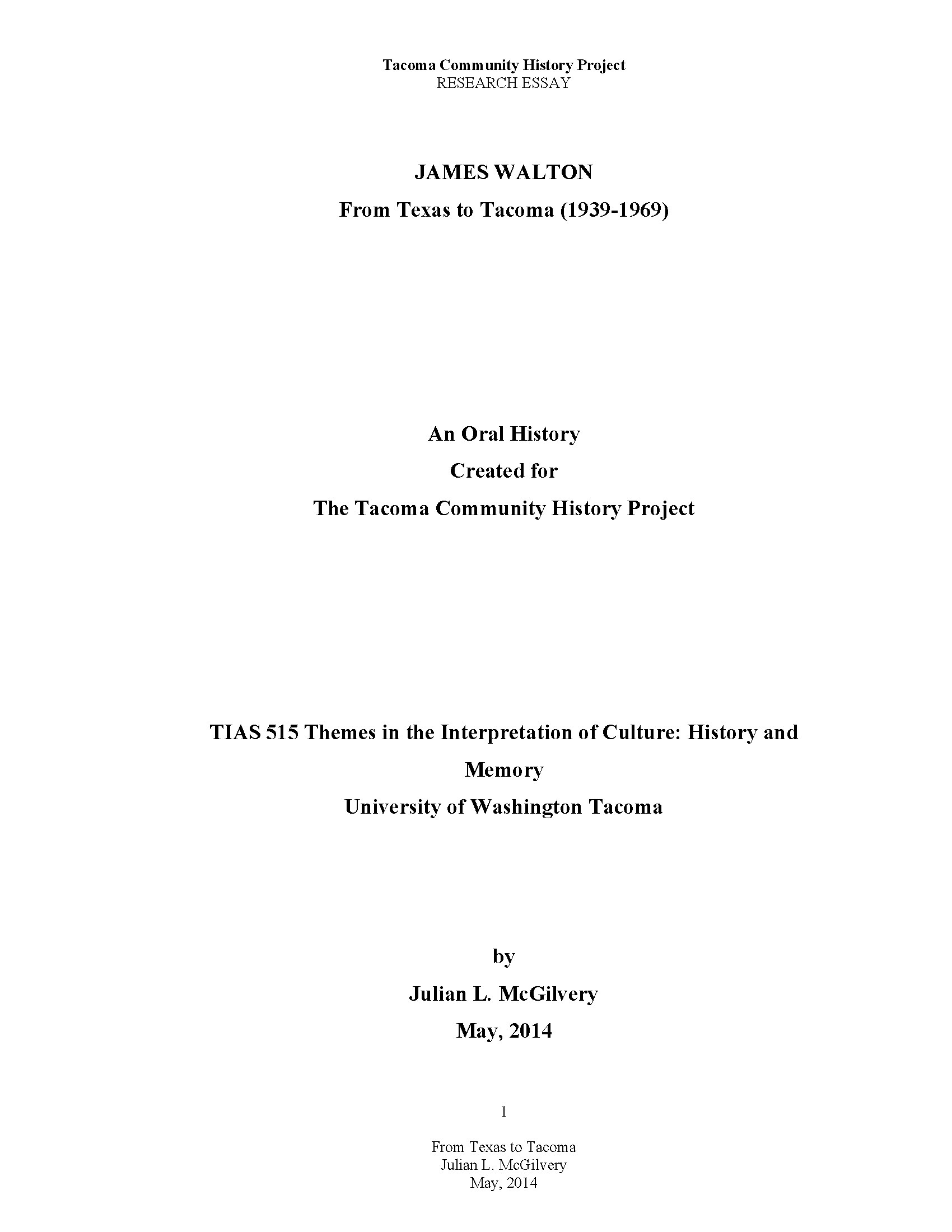 A Modest Proposal Essay Julian Mcgilvery Research Essay Science And Literature Essay also Compare Contrast Essay Examples High School Julian Mcgilvery Research Essay  Tacoma Community History Project  Good Thesis Statements For Essays
