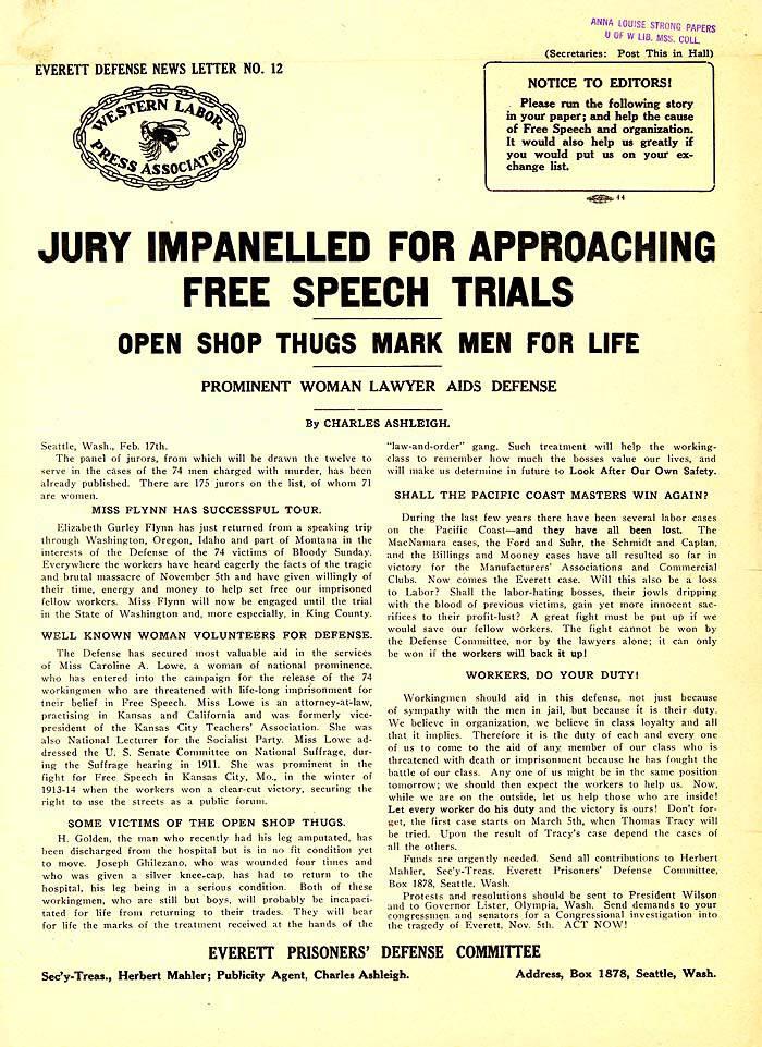 046  Jury Impanelled for Approaching Free Speech Trials, open shop